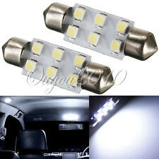 2x Bombillas 6 LED SMD BLANCO C5W Festoon 39mm Matricula interior lectura COCHE