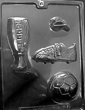 SOCCER KIT PIECES MOLD Chocolate Candy molds ball cleats whistle trophy