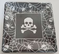Pirate Party Plates Skull & Crossbones Halloween Tableware Decorations Square