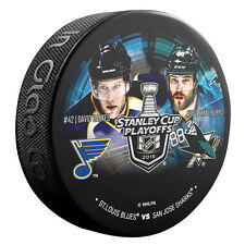 2016 David Backes v Brent Burns Head to Head Stanley Cup Playoffs Hockey Puck