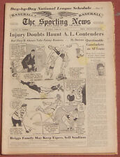 2-1-56 SPORTING NEWS ROY CAMPANELLA TERRY SAWCHUK NATIONAL LEAGUE SCHEDULE+