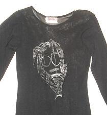 BLACK MUMMIFICATO Mummia Spettrali KID Long Sheer Mesh Abito Goth Horror KAWAII Gothic