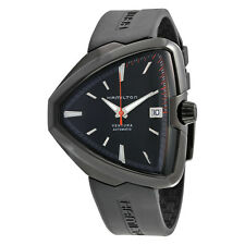 Hamilton Ventura Elvis80 Automatic Black Dial Black PVD Mens Watch H24585331