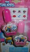 THE SMURFS 2 PIECE NAIL POLISH & 8 PIECE NAIL STICKERS LITTLE GIRL DRESS UP NEW