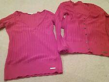 BEN SHERMAN LADIES TOP PLUS CARDIGAN SIZE SMALL UK8