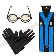 DESPICABLE ME MINION GOGGLES GLASSES BRACES & GLOVES FANCY DRESS BOOK WEEK