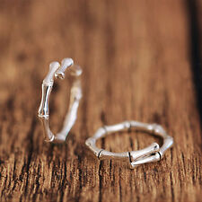 Simple Design Platinum Plated Copper Rings Bamboo Joint Opening Rings Jewelry