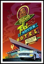 "1950's TIKI ATOMIC ""LIMITED EDITION"" SERIES BY DOUG HORNE-""TIKI MOTOR HOTEL"""