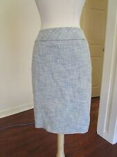 Women's ANN TAYLOR Casual Career Cotton Tweed lined Pencil Skirt size 0P