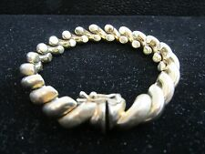 "14kt Solid Yellow Gold Italy San Marco Macaroni Bracelet 23.8 Grams 6.25"" NICE!"