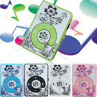 Mini Clip Flower Pattern MP3 Player Music Media Support 32GB Micro SD TF Card