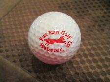 LOGO GOLF BALL-FOX RUN GOLF COURSE...WEBSTER, WISCONSIN