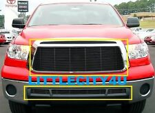FOR 2010 2011 2012 2013 Toyota Tundra Black Billet Grille Grill Combo Inserts