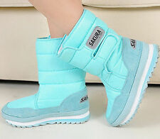 10 Colors Fashion Women's Girls Winter Warm Lining Snow Joggers Boots