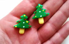 5pcs christmas tree cabochons frozen snow flatback decoden craft supplies