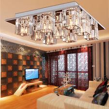 Modern Luxury 9 Light Crystal Chandelier Pendant Lamp Ceiling  Flush Mount