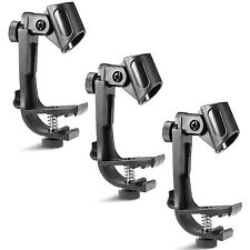 Neewer CLIP ON DRUM MOUNT MICROPHONE HOLDER(3 PACK)