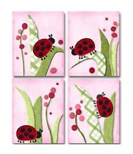 Migi Ladybugs childs nursery bedding artwork art decor PRINTS for baby girl kid