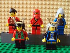 Lego Minifig ~ Mixed Lot Of 5 Samurai Ninja Warriors Robbers/Bandits Vintage #yh