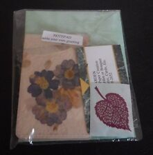 "Pressed Flowers Vintage Style Note Pad ""Write Your Own Greeting"" Jane's Garden"