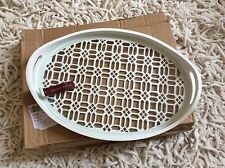 ZARA HOME White Oval Wooden Serving Trays Kitchenware Dining Tableware BNWT!