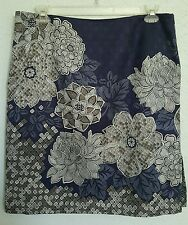 NWOT Talbots Sz 16 Cotton & Silk, Fully Lined, Floral Print, Pencil Skirt