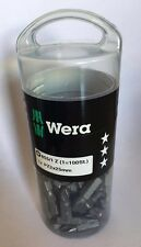 Wera 855/1 Z PZ 2 x 25mm Drill Bits (Approx.100 Drill Bits in Tub) NEW 072444