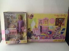 Happy Family Pregnant Barbie  & Play Set New