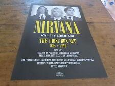 NIRVANA - Publicité de magazine / Advert WITH THE LIGHTS OUT !!!!!!