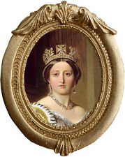 QUEEN VICTORIA Dollhouse Picture - Framed Miniature Art - MADE IN AMERICA