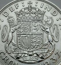 Great Britain UK 1 Crown 1937. KM#857. Silver One Dollar coin. George VI.