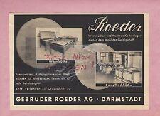 DARMSTADT, Werbung 1936, Gebrüder Roeder AG Kochanlagen
