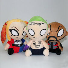 3pcs/lot Suicide Squad Plush Doll Joker Deadshot Harley Quinn Stuffed Toy Gift