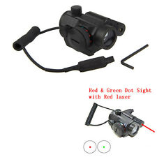 Tattica Holographic Reflex Rosso Verde Dot Sight Scope Laser SoftAir CACCIA Luce