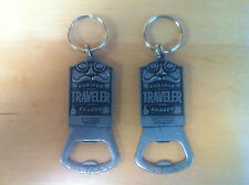 Curious Traveler Beer Co. House Of Shandy Bottle Opener Key Ring ~ NEW Set of 2
