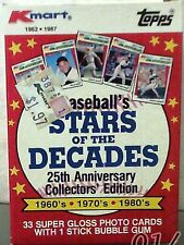 1987 Topps Kmart Stars Of The Decades Set 1-33 Unopened Super Gloss Card Set