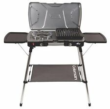 Coleman FyreCommander 3-in-1 Portable Camping 2-Burner Propane Gas Stove & Grill