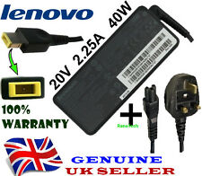 Genuine Original IBM Lenovo ADLX45NCC3A Laptop Charger Adapter 40W + Power Cable