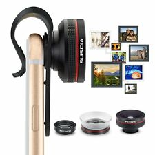 3 in1 Clip On Camera Lens Kit Fisheye + Wide Angle + Macro for Mobile Cell Phone