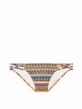 Victoria Secret The Strappy Cheeky Bikini Bottom Large Zig Zag Geo Foil Chevron