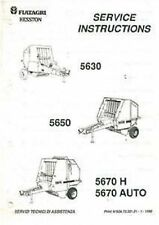 FIATAGRI HESSTON 5630 5650 5670H 5670 AUTO ROUND BALER WORKSHOP SERVICE MANUAL