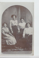 Studio portrait of the Gray sisters - Helen, Annie, Agnes & Jean