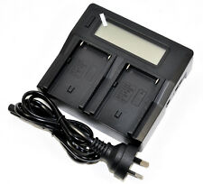 Fast LCD Battery Charger Fr Sony NP-F970 NP-F960 NP-F770 NP-F550 Vedio LED Light