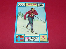 260 T. HAUG 1924 HIVER PANINI OLYMPIA 1896 - 1972 JEUX OLYMPIQUES OLYMPIC GAMES