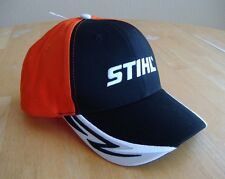 Black and Orange STIHL Lightening Bill Hat Cap Adjustable