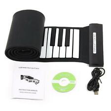 Konix Professional USB 88 Key MIDI Roll up Electronic Piano Keyboard Silicone