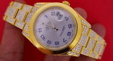 18 Carat Diamond Yellow Gold plated Rolex Datejust 2 II 41MM Watch ASAAR Video
