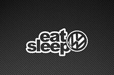 YELLOW eat Sleep Vw Car Vinyl Decal Sticker. DUB, Golf, Polo, Euro, German