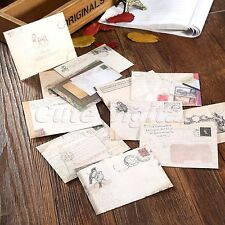12X Vintage Ancient Mini Envelope Letter Wish Card Gift Storage Paper Stationery