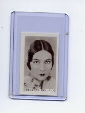 Facchinos Chocolate Wafers 1936 #89 Dolores Del Rio  NMMT